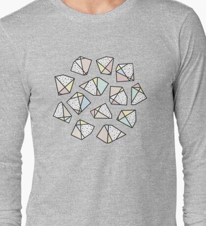 Polygonal stones and gemstones Long Sleeve T-Shirt