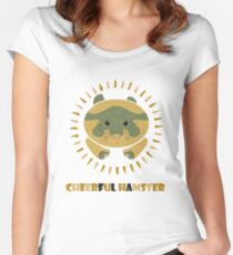cheerful hamster Women's Fitted Scoop T-Shirt