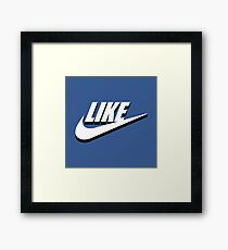 Like sport social media Framed Print