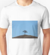 A simple little hill-top tree, Val D'Orcia, Tuscany, Italy T-Shirt