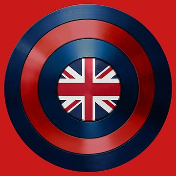 CAPTAIN BRITAIN - Captain America inspired British shield by infrablue
