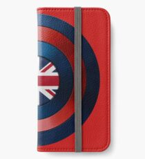 CAPTAIN BRITAIN - Captain America inspired British shield iPhone Wallet/Case/Skin