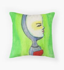 Egghead Throw Pillow