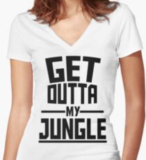 Get Outta My Jungle Women's Fitted V-Neck T-Shirt