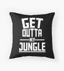 Get Outta My Jungle v2 Throw Pillow