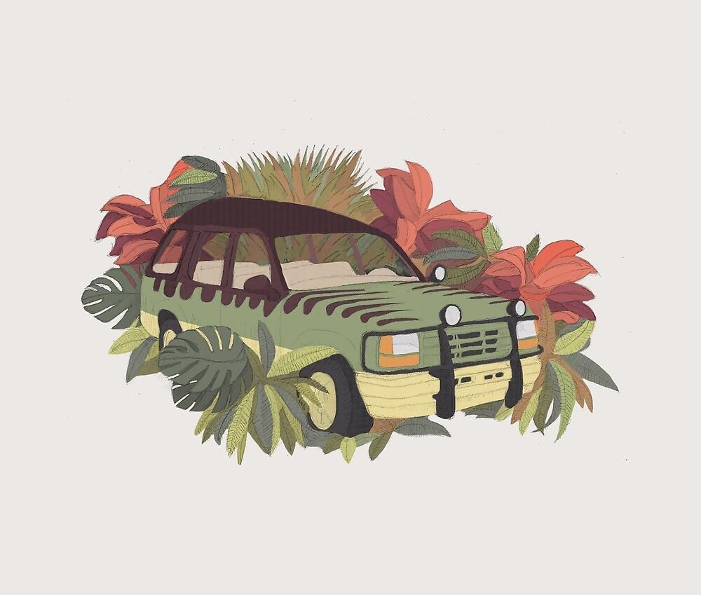 Jurassic Car by Julien Missaire