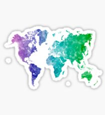 Travel abstract art background color colorful concept continent world map in watercolor multicolored sticker gumiabroncs Image collections