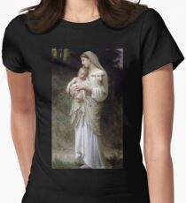 Innocence by William Bouguereau Womens Fitted T-Shirt