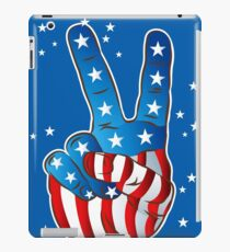 American Patriotic Victory Peace Hand Fingers Sign iPad Case/Skin