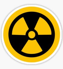 Yellow Radioactive Sticker