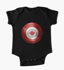 CAPTAIN CANADA - Captain America inspired Canadian shield One Piece - Short Sleeve