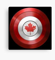 CAPTAIN CANADA - Captain America inspired Canadian shield Canvas Print