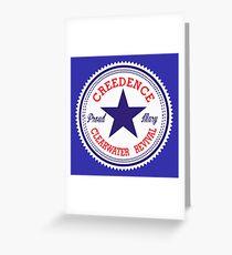 CCR VINTAGE LABEL STAR Greeting Card
