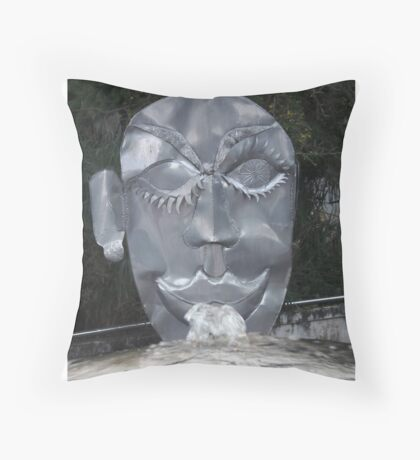 Art mask and water Throw Pillow