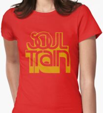 SOUL TRAIN (YELLOW) Womens Fitted T-Shirt