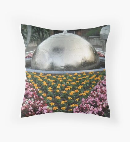 Flowers and Water Throw Pillow