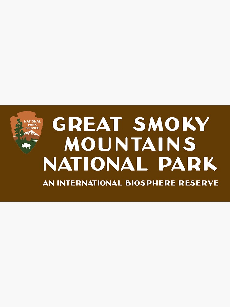 Great Smoky Mountains National Park sign by bussnyle
