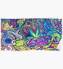 Psychedelic Slug  Poster