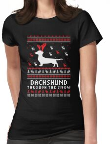 Dachshund - Dachshund Ugly Christmas T-shirts Womens Fitted T-Shirt