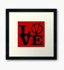 LoVe V for Vendetta Framed Print