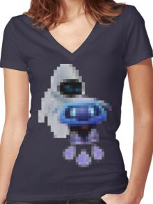 EVE + Snowball = BFF Women's Fitted V-Neck T-Shirt