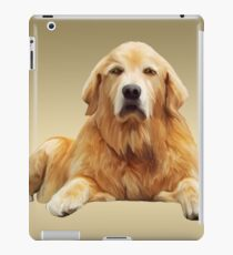 Golden Retrievers Dog Sitting Water Color Art Painting iPad Case/Skin