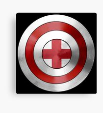 CAPTAIN ENGLAND - Captain America inspired English shield Canvas Print