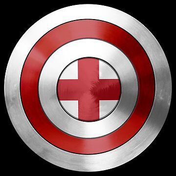 CAPTAIN ENGLAND - Captain America inspired English shield by infrablue