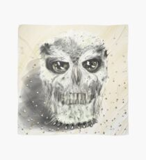 Human skull owl Scarf
