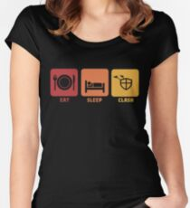 Eat Sleep Clash Women's Fitted Scoop T-Shirt