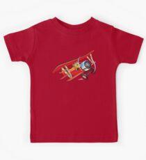 Cartoon biplane Kids Clothes