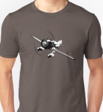Cartoon racing airplane Unisex T-Shirt