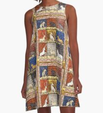 Medieval Animal Bestiary A-Line Dress