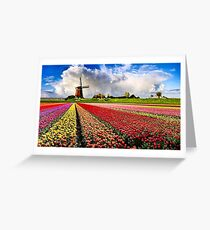 BULBS FIELDS Greeting Card