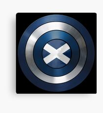 CAPTAIN SCOTLAND - Captain America inspired Scottish shield Canvas Print