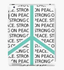 SOP Peace Sign (Black Text) iPad Case/Skin