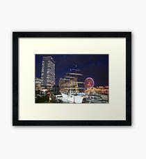 Yokohama Bay at Night 1 Framed Print