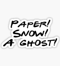Friends - Paper, Snow, A Ghost Sticker