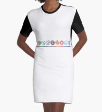 EPCOT Center Retro Future World Pavilion Logos Graphic T-Shirt Dress