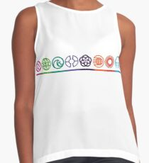 EPCOT Center Retro Future World Pavilion Logos Contrast Tank