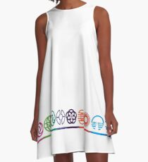 EPCOT Center Retro Future World Pavilion Logos A-Line Dress