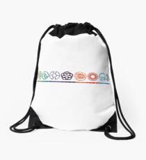EPCOT Center Retro Future World Pavilion Logos Drawstring Bag