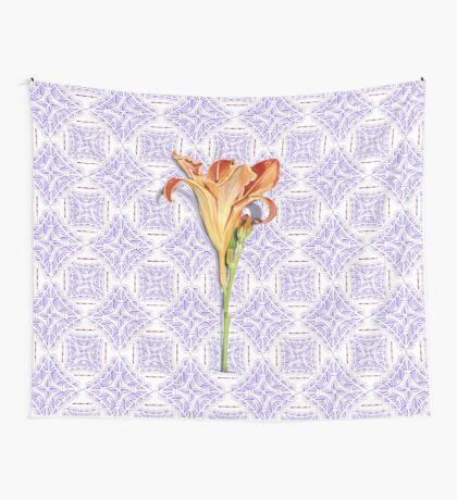 Daylily Lace Wall Tapestry