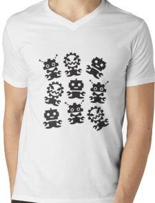 Old School Monster Gear Mens V-Neck T-Shirt