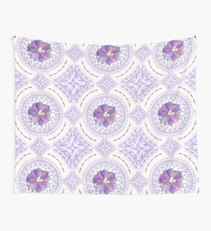 Victorian Flowers Wall Tapestry
