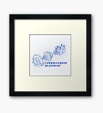 TURBO BLUEPRINT Framed Print