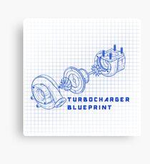 TURBO BLUEPRINT Canvas Print