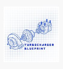 TURBO BLUEPRINT Photographic Print