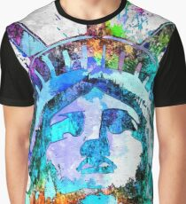 Statue of Liberty Grunge Graphic T-Shirt