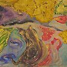Chat noir . acrylic paintings . Dr.Andrzej Goszcz. by © Andrzej Goszcz,M.D. Ph.D